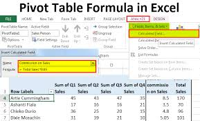 Pivot Table Calculated Field How To Add Formulas In A