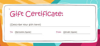 Fillable Gift Certificate Template Free Free Gift Certificate Templates You Can Customize Free