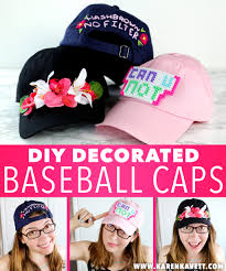 hi guys today s diy is 3 ways to decorate plain baseball caps you guys know how much i love diying my clothing and i think all three of these ideas are
