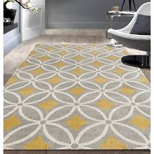 osti trellis chain grey yellow contemporary area rug x pertaining to rugs
