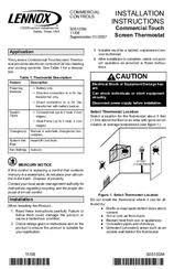 lennox touchscreen thermostat manual. lennox commercial touchscreen thermostat installation instructions manual 6
