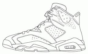 Small Picture Jordan Shoe Coloring Pages Az Coloring Pages intended for Jordan