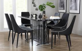 marble dining table set within best choice of amazing black and chairs 66 about plan 18