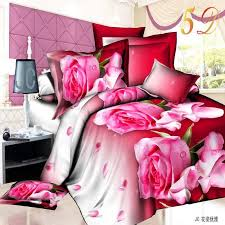 home textiles cotton leopard grain rose 3d bedding sets king size 4 pcs of duvet cover