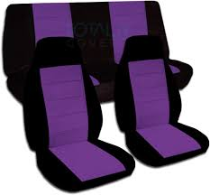 black purple car seat covers