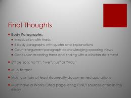 argumentative writing elements of an argumentative essay  21 final
