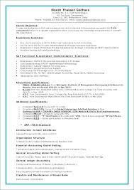 Abap 3 Years Experience Resume Resume Layout Com