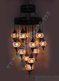 25 piece turkish mosaic chandelier handmade turkish lamp