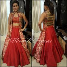Designer Gowns For Indian Wedding All Fired Up Lehenga By Mischb Couture Indian Designer