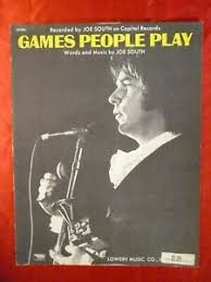 Details About Games People Play Sheet Music Joe South 1968 Pop 12 Hit 1969