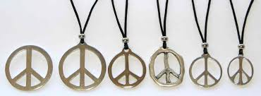 peace sign pin and necklace pendants