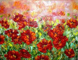 flower painting handmade livemaster handmade oil painting poppy field