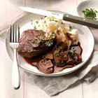 beef fillets with portabella sauce