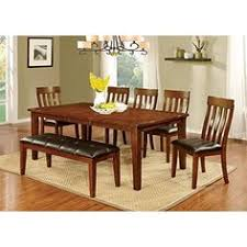 furniture of america harcourt 6 piece transitional dining set farm style dining table dining