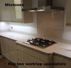 Granite Kitchen Worktops White Mirror Flecks Quartz Sample Kitchen Quartz Worktops