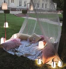 outdoor with portable led lamps