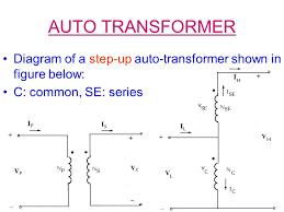 energy conversion one (course 25741) ppt video online download auto transformer construction at Autotransformer Diagram