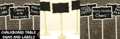 chalkboard labels and signs