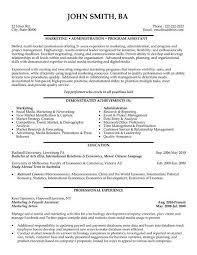 Marketing Administration Cover Letter Sarahepps Com