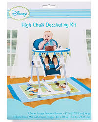 baby mickey mouse 1st birthday high chair decoration kit co uk toys