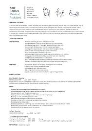 Example Of A Medical Assistant Resumes Example Resume For Medical Assistant Blaisewashere Com