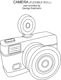 Small Picture Camera coloring printable page