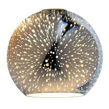 portfolio 6 3 in h 7 in w silver explosion art glass globe pendant light shade