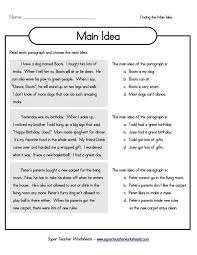 Main Idea Worksheets 3rd Grade Screen Shot 2015 12 30 4 04 56 ...