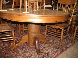 circa 1900 round oak table 1295 00