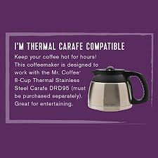 This model is a rare find for the money, and it was designed to surprise. Mr Coffee 12 Cup Programmable Coffee Maker With Thermal Carafe Option Chrome Sale Coffee Makers Shop Buymorecoffee Com