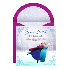 invitation for a party frozen online party invitation disney family
