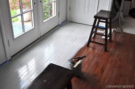 diy painted hardwood floors
