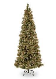 5ft Glittery Bristle Pine Slim Artificial Christmas Tree