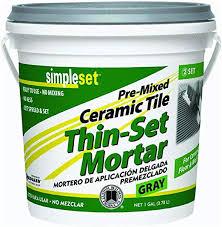 SimpleSet Pre-Mixed <b>Thin</b>-<b>Set</b> Mortar 1 QT - Tile Grout - Amazon.com