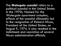 watergate scandal  10 <ul><li>the watergate scandal