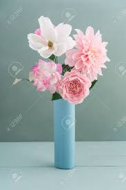 Paper Flower Bouquet In Vase Crepe Paper Flower Bouquet With Peonies Dahlia And Camellia