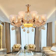 modern crystal chandelier luxury large chandelier led ceiling chandelier lgiht for living room dining room new house hotel restaurant lights ceiling lamp