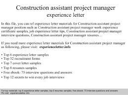 Construction Program Manager Cover Letter Sarahepps Com