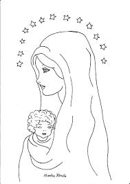 Oltre 50 Madonna Con Bambino Da Colorare Disegni Da Colorare
