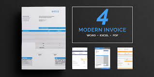 Modern Invoice Invoice Template 16 Word Psd Format Download Free Premium