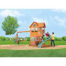 Big Backyard Swing Sets  Home Outdoor DecorationBig Backyard Ashberry Wood Swing Set