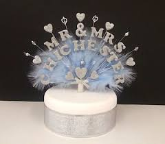Mr Mrs Or Double Name Feather And Beads Wedding Anniversary