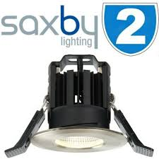 2x saxby fire rated led bathroom