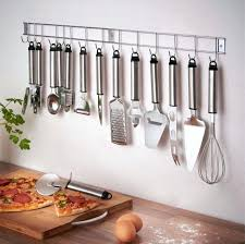 stainless kitchen utensil cooking utensil set stainless steel kitchen gadget tool with hanging bar viking stainless