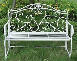 metal garden bench seat patio furniture