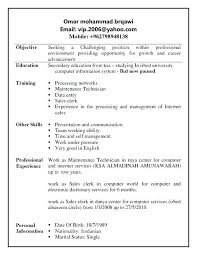 Retail Clerk Resume] Sales Clerk Resume Example Sample Cash .