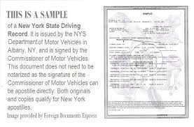 New Apostille Record York An To Get Driving A For How