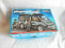 Playmobil City Action Police Van With Lights And Sound 6043 Classic Playmobil City Action Police Van With Lights And Sound 6043 Boxed