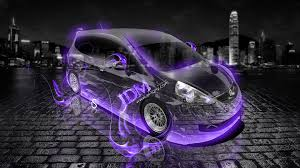 honda fit jdm fire crystal car