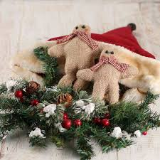 click here for a larger view on primitive christmas wall art with primitive christmas burlap gingerbread display wall art